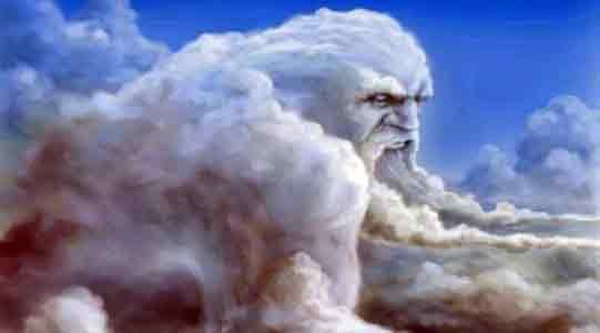 ветер Бог ветра в облаках