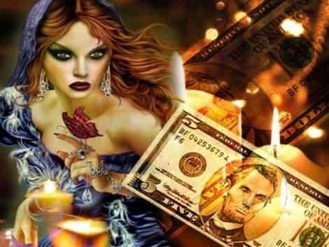 приворот на деньги - 7 монет
